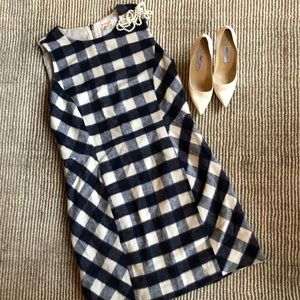❄️SALE! Brooks Brothers navy gingham dress